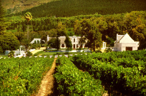 KLEIN CONSTANTIA.WESTERN CAPE .SOUTH AFRICA.The homestead.